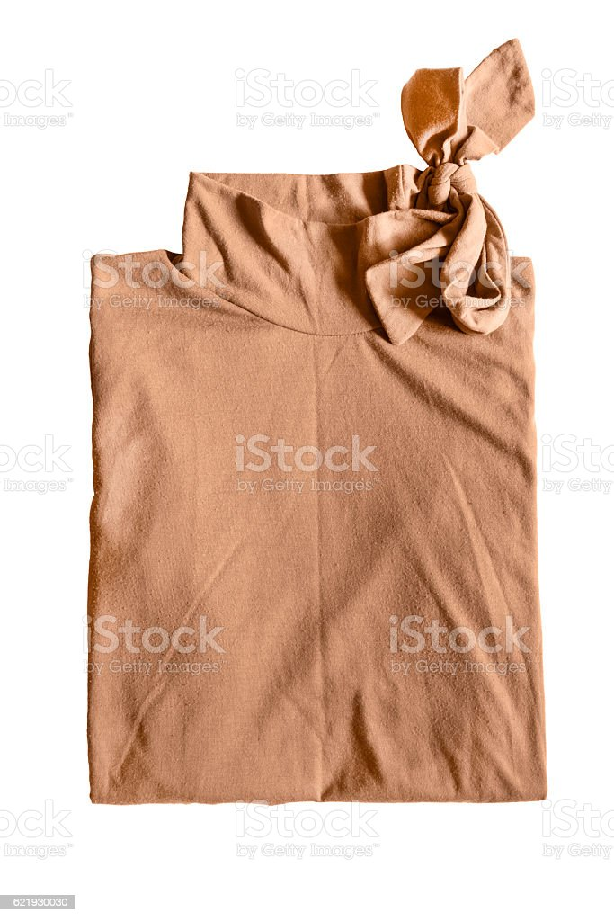 Folded shirt isolated stock photo