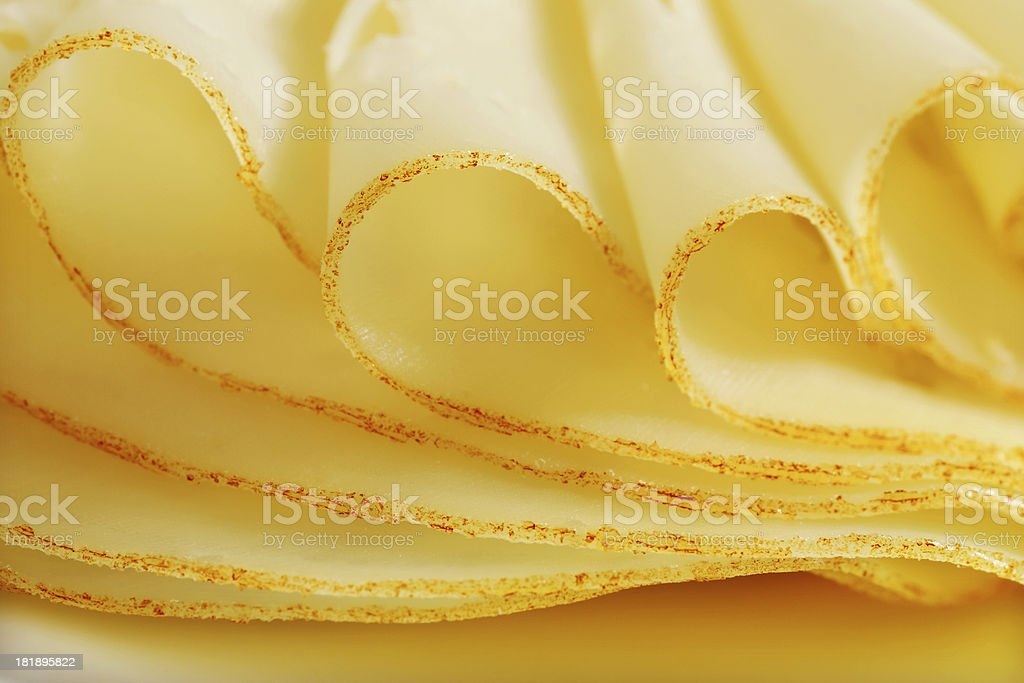 Folded sliced cheese royalty-free stock photo