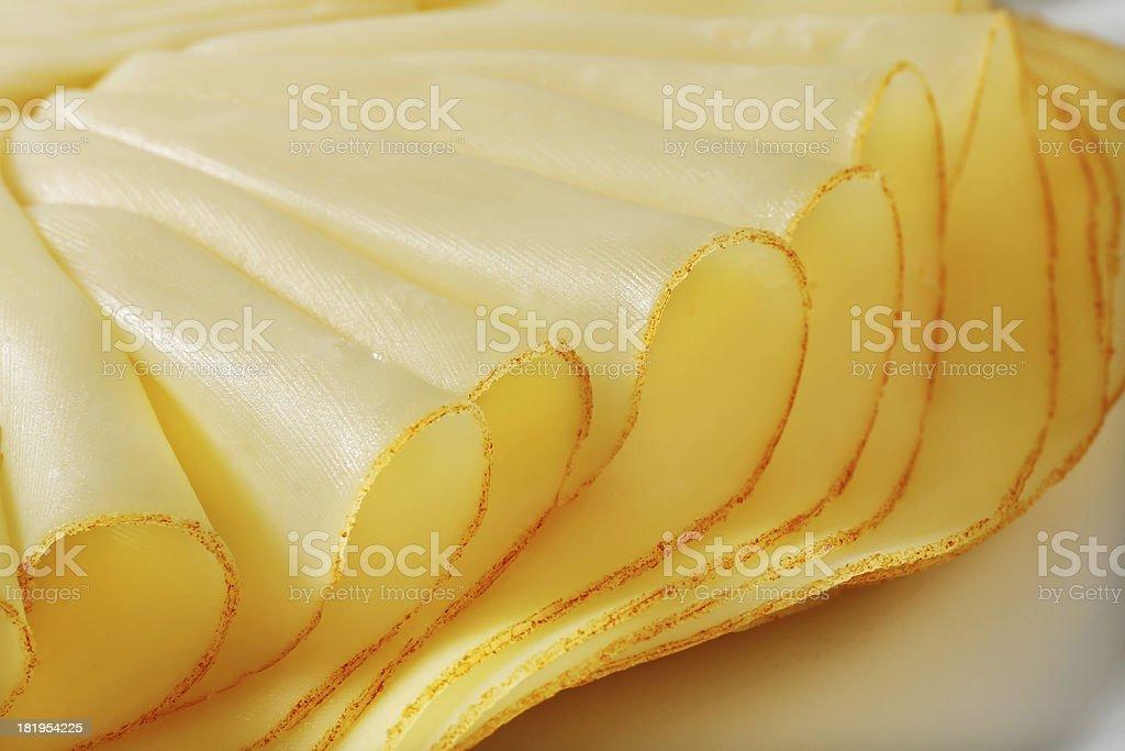 Folded sliced cheese royalty-free stock photo