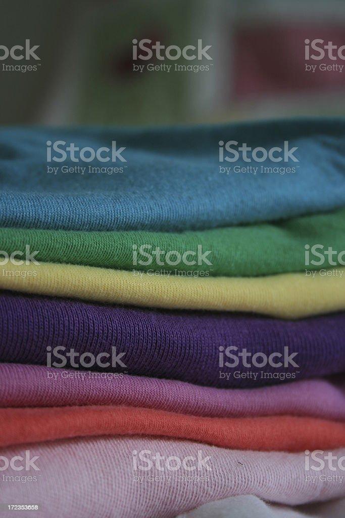 Doblado una camiseta foto de stock libre de derechos