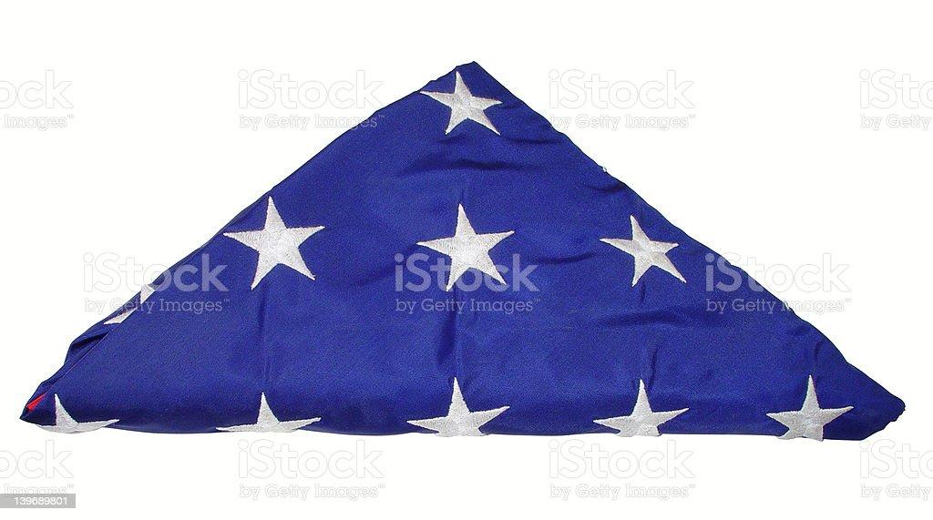 Folded US Flag royalty-free stock photo