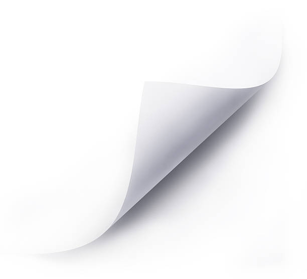 folded white paper sheet - page stock photos and pictures