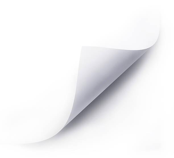 folded white paper sheet stock photo