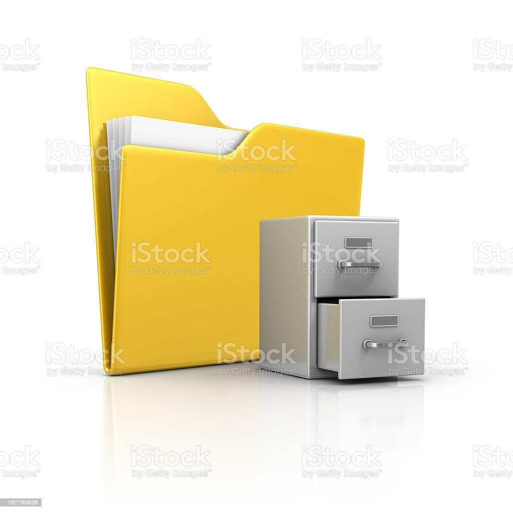 folder and archives royalty-free stock photo