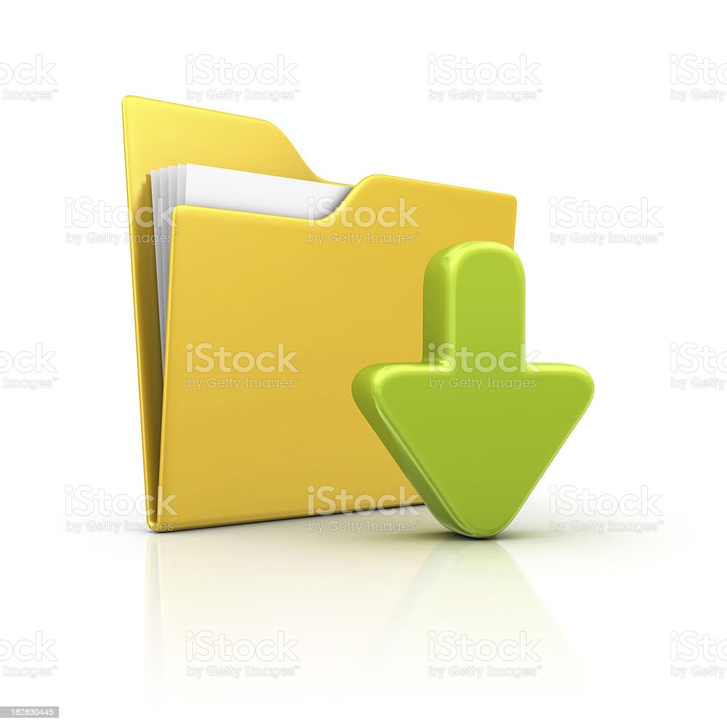 folder and download arrow royalty-free stock photo
