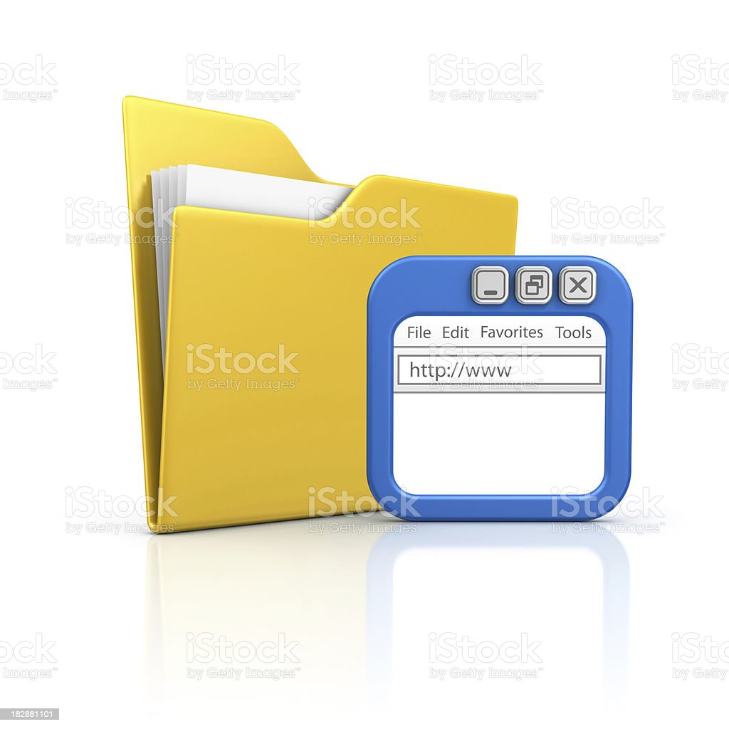 folder and internet browser royalty-free stock photo