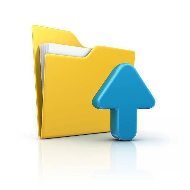 folder and upload stock photo