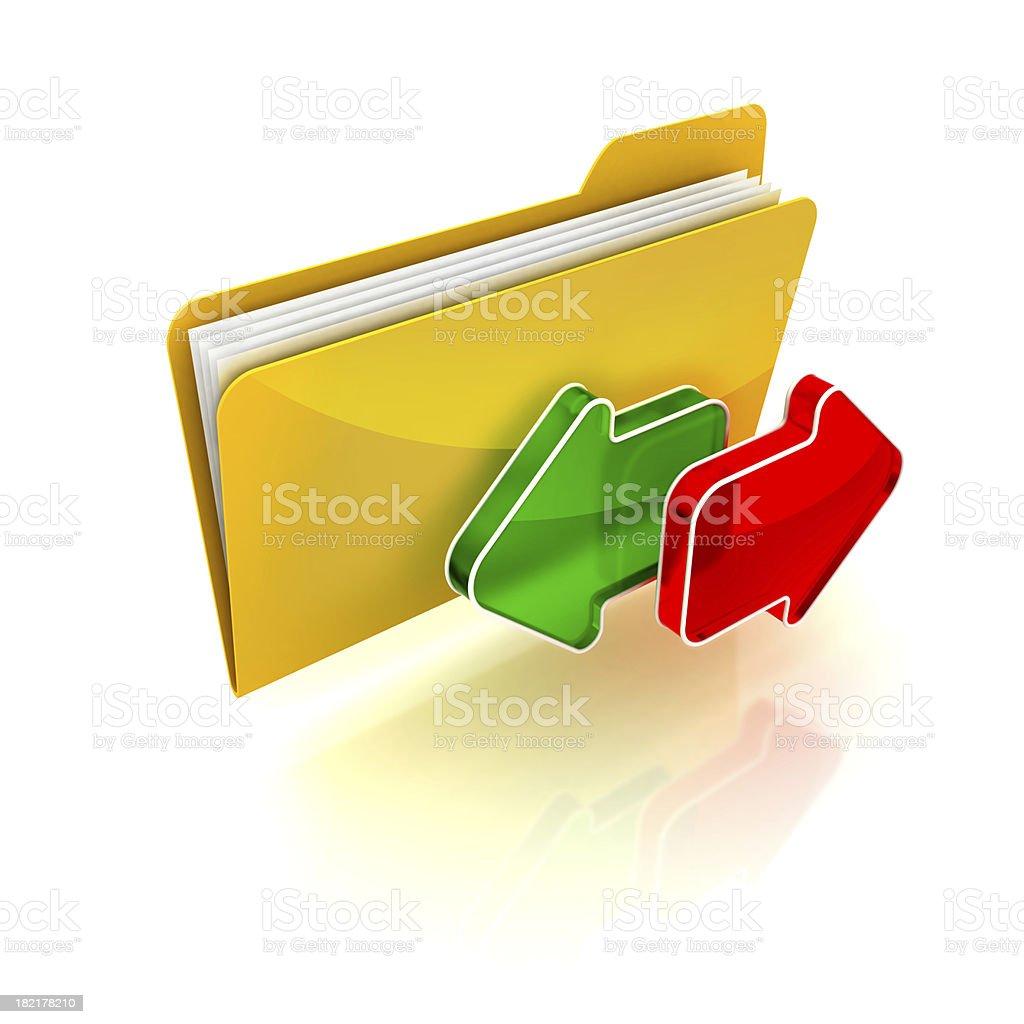 folder exchange royalty-free stock photo
