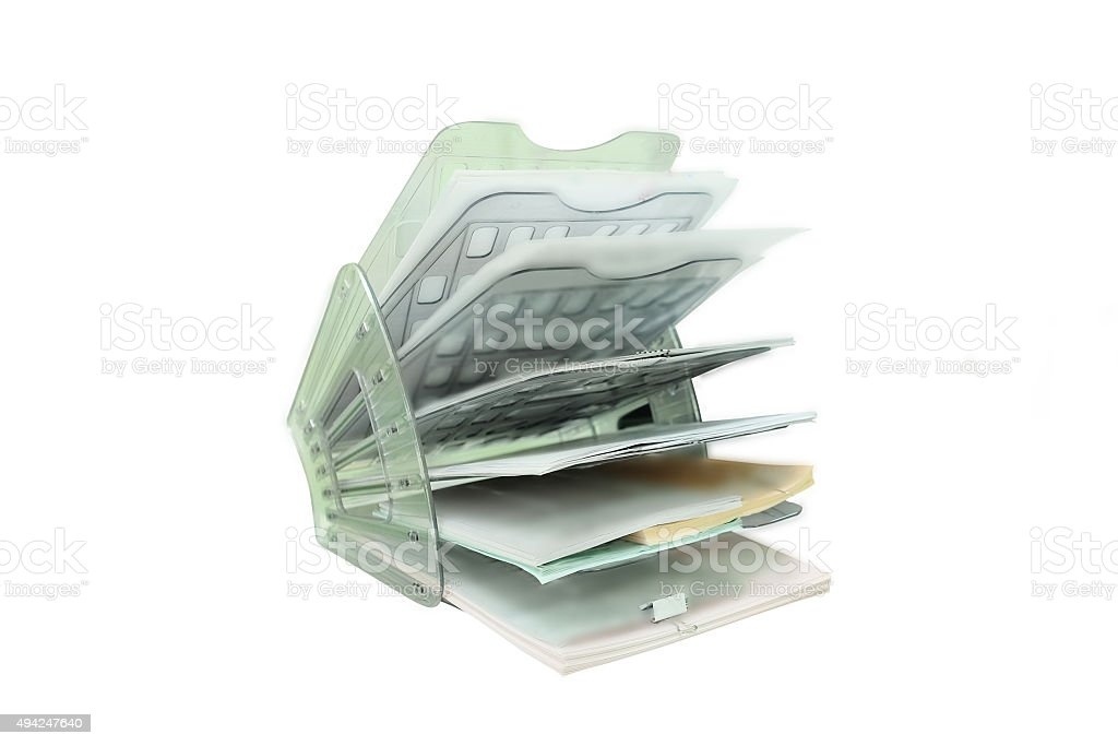 folder for documents stock photo
