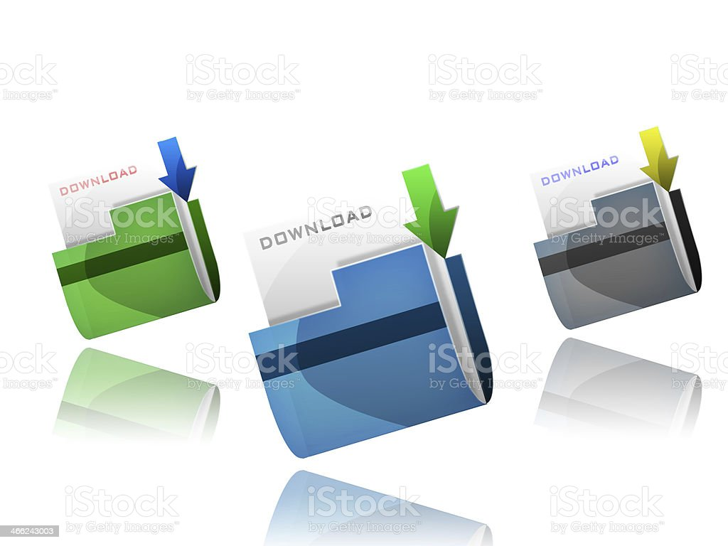 Folder for download stock photo