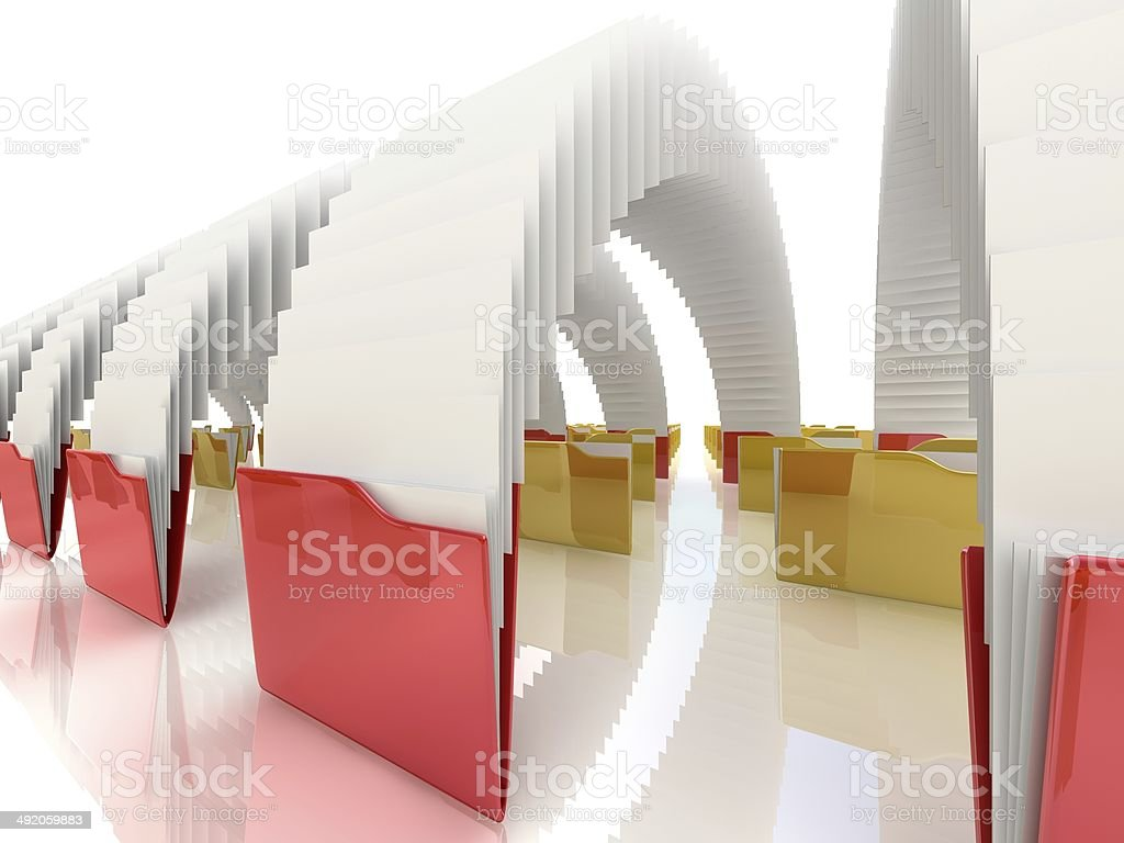 Folder icon 3d illustration. Download. stock photo