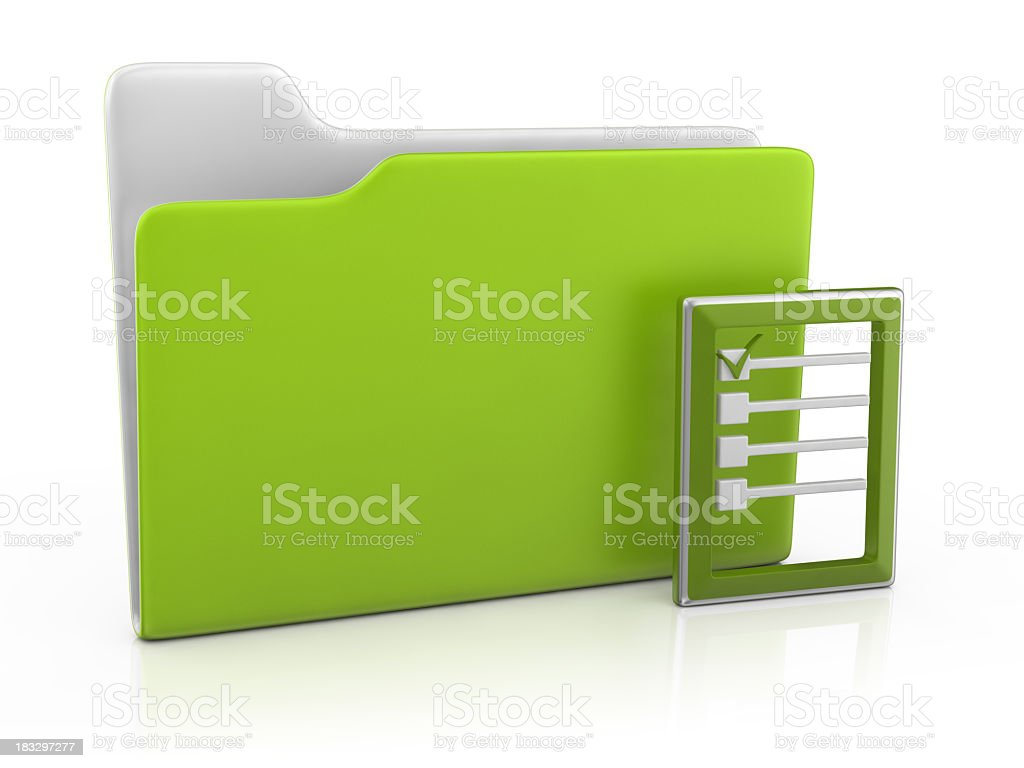 Folder Icon and Checklist royalty-free stock photo