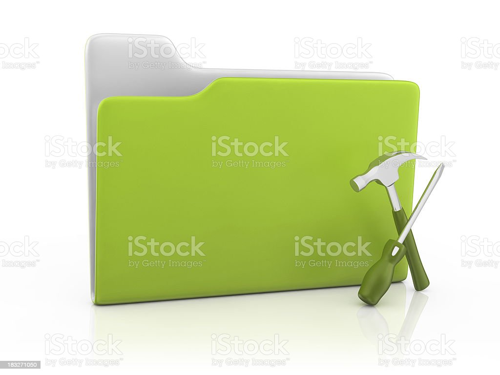 Folder Icon and Service royalty-free stock photo