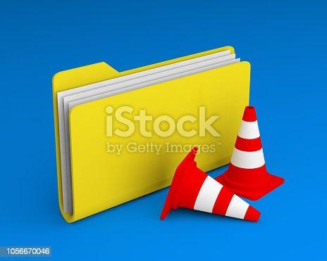 istock folder icon cones 1056670046