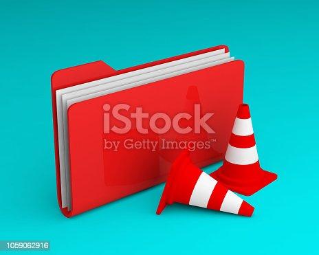 istock folder icon cones 1059062916