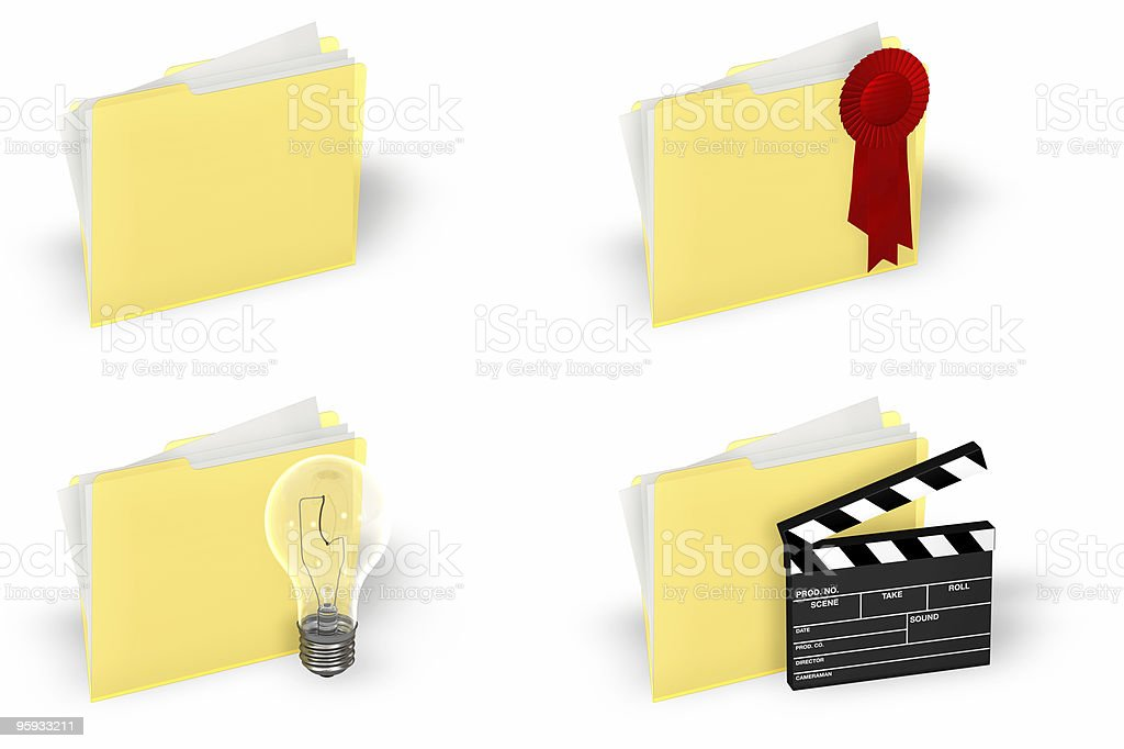 Folder Icon Set royalty-free stock photo