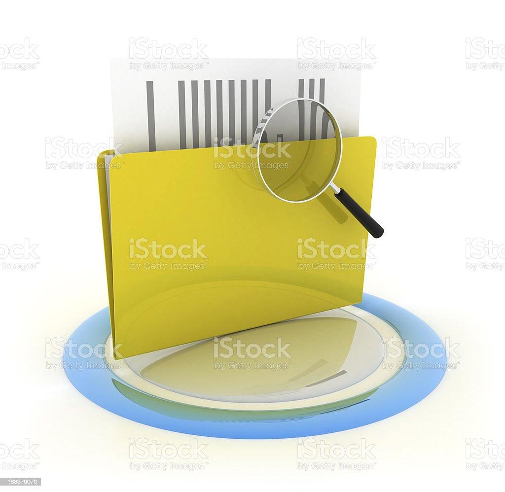 Folder - Magnifying glass royalty-free stock photo