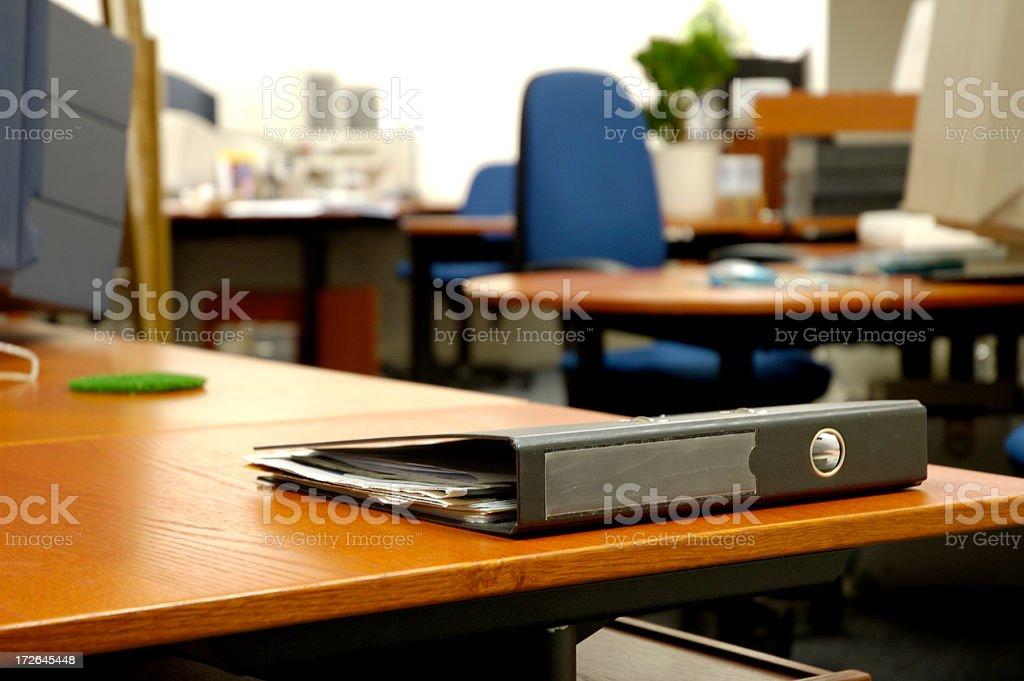 Folder on the desk royalty-free stock photo