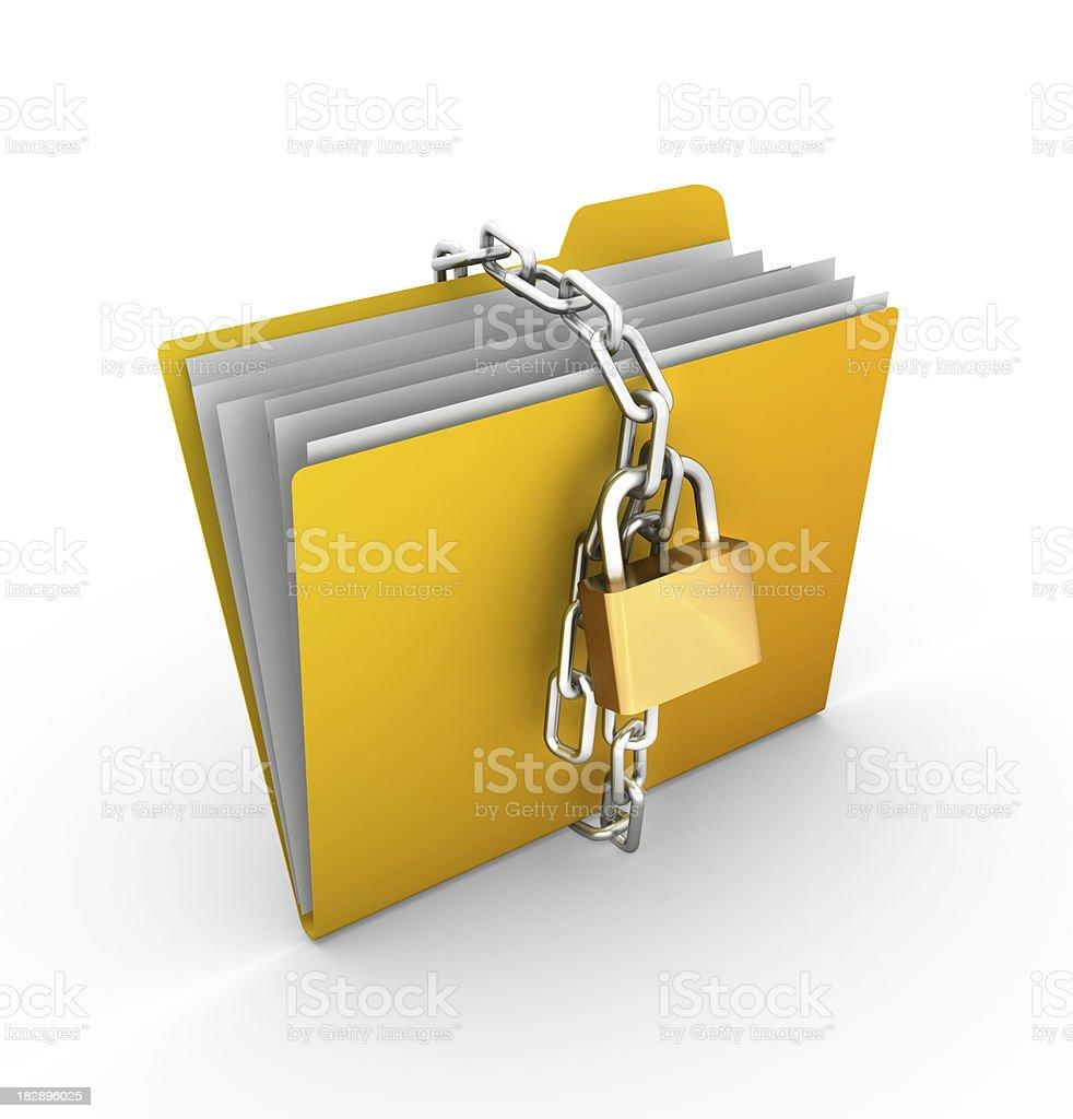 Folder Padlock stock photo