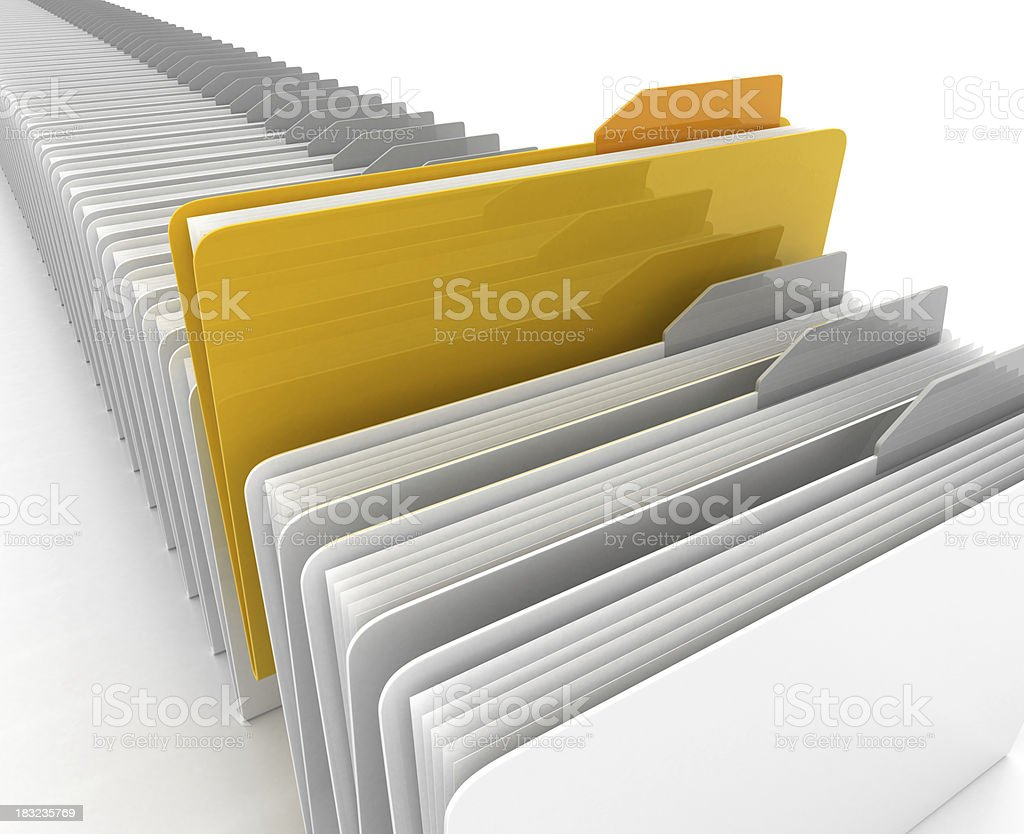 3D folder royalty-free stock photo