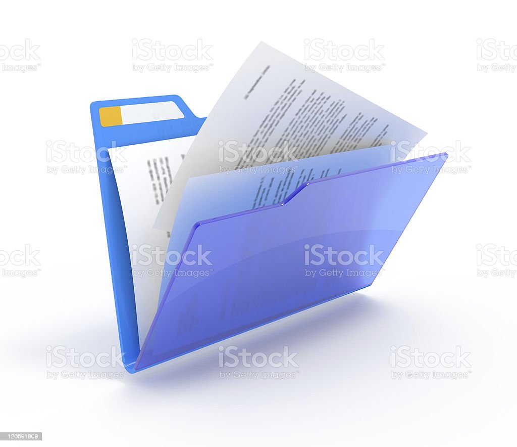 Folder with a documents stock photo