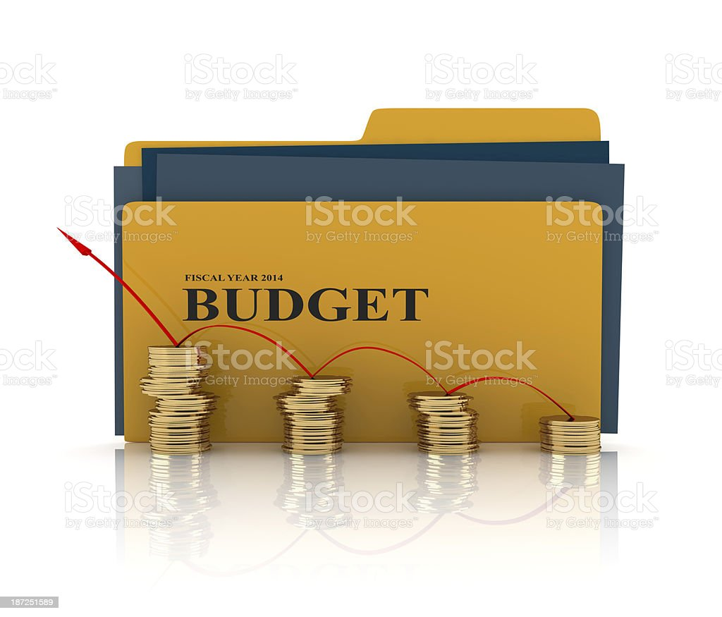 Folder with budget documents royalty-free stock photo