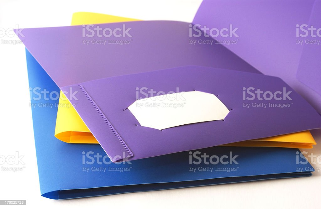 folder with business card stock photo