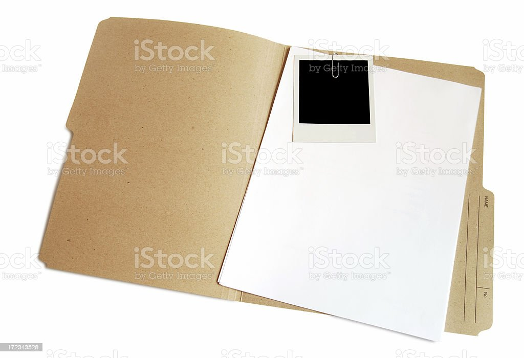 Folder with document and picture royalty-free stock photo