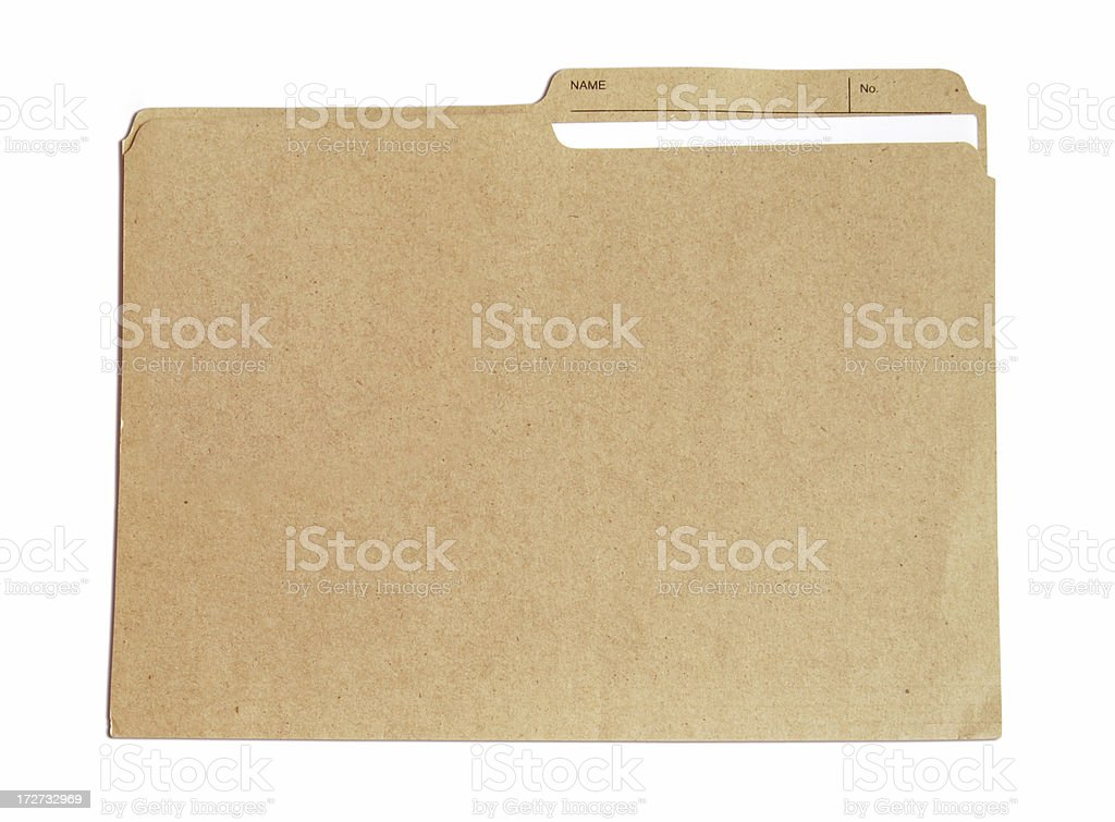 Folder with document stock photo