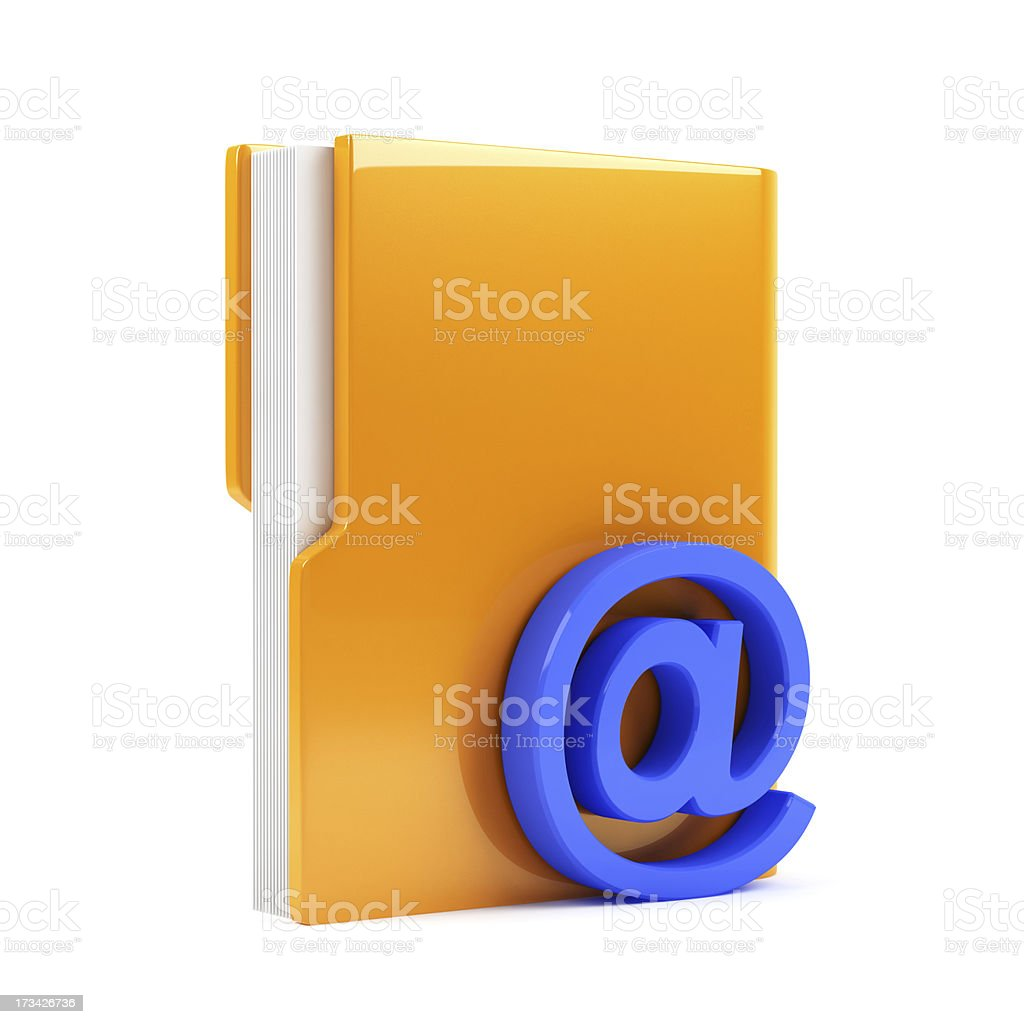 folder with email sign royalty-free stock photo