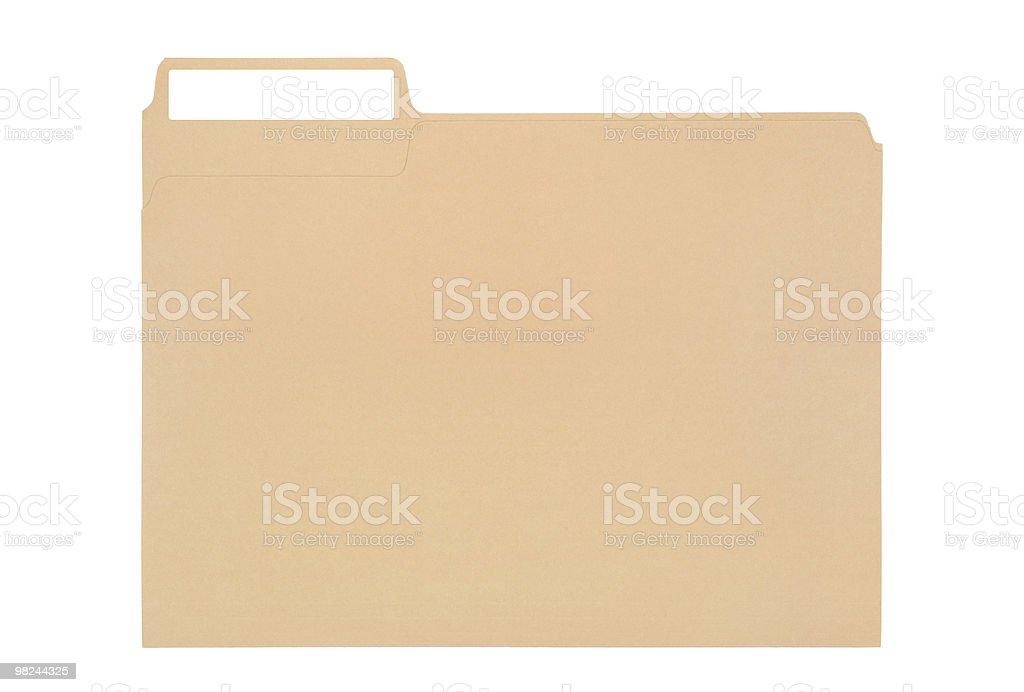 Cartella con etichetta foto stock royalty-free