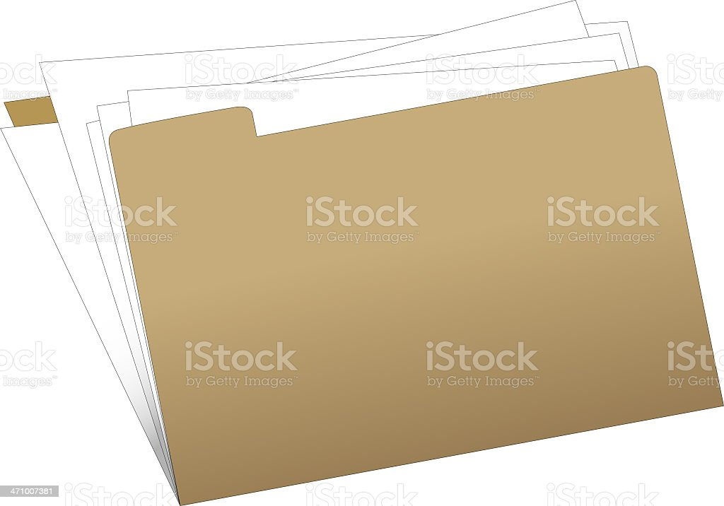 folder with papers stock photo