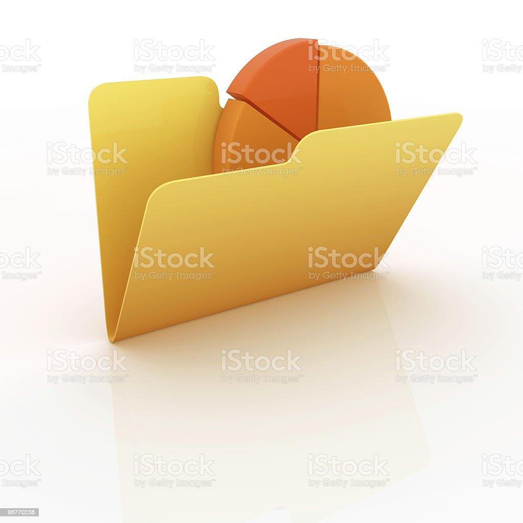 Folders royalty-free stock photo