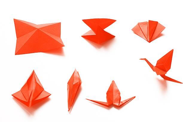 faltbarer ein origami crane - origami anleitungen stock-fotos und bilder