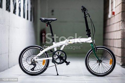 Folding bike side view