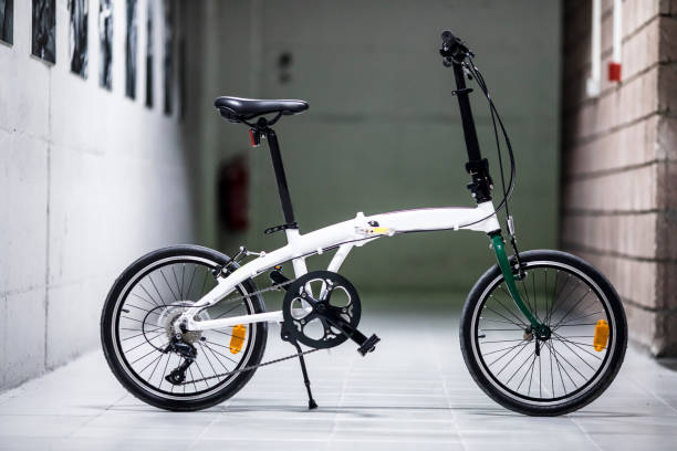 Folding Bike Folding bike side view foldable stock pictures, royalty-free photos & images