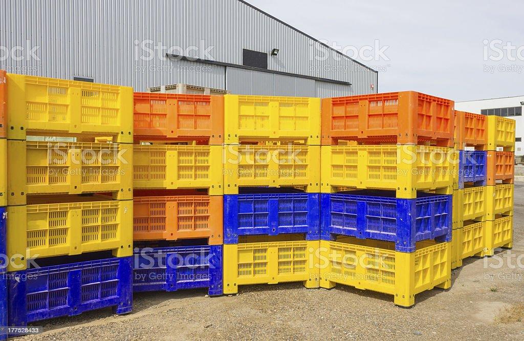 folding boxes royalty-free stock photo