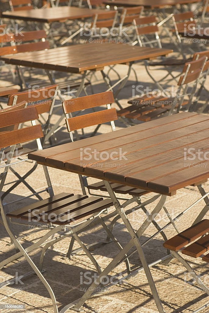 folding chairs royalty-free stock photo