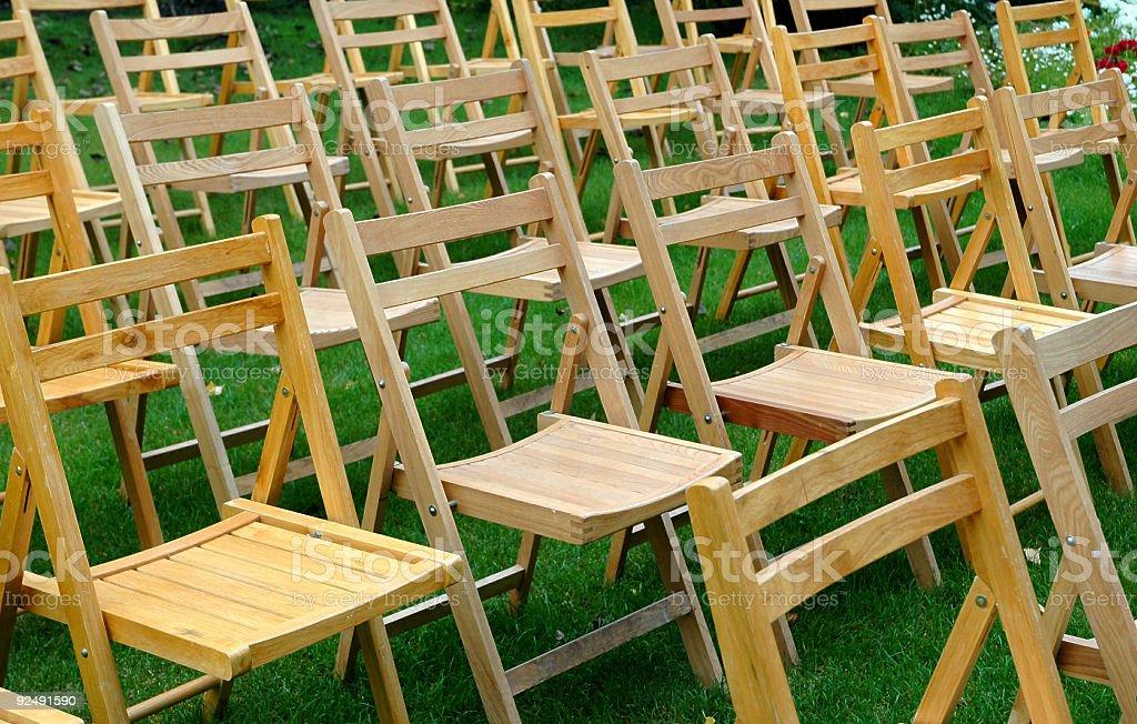 Falten Stühlen Lizenzfreies stock-foto