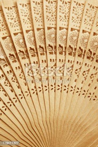 istock Folding fan background 119411327