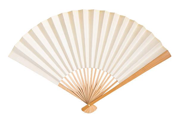 folding fan isolated - japanischer fächer stock-fotos und bilder
