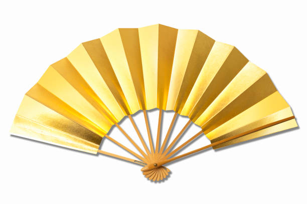 Folding fan stock photo