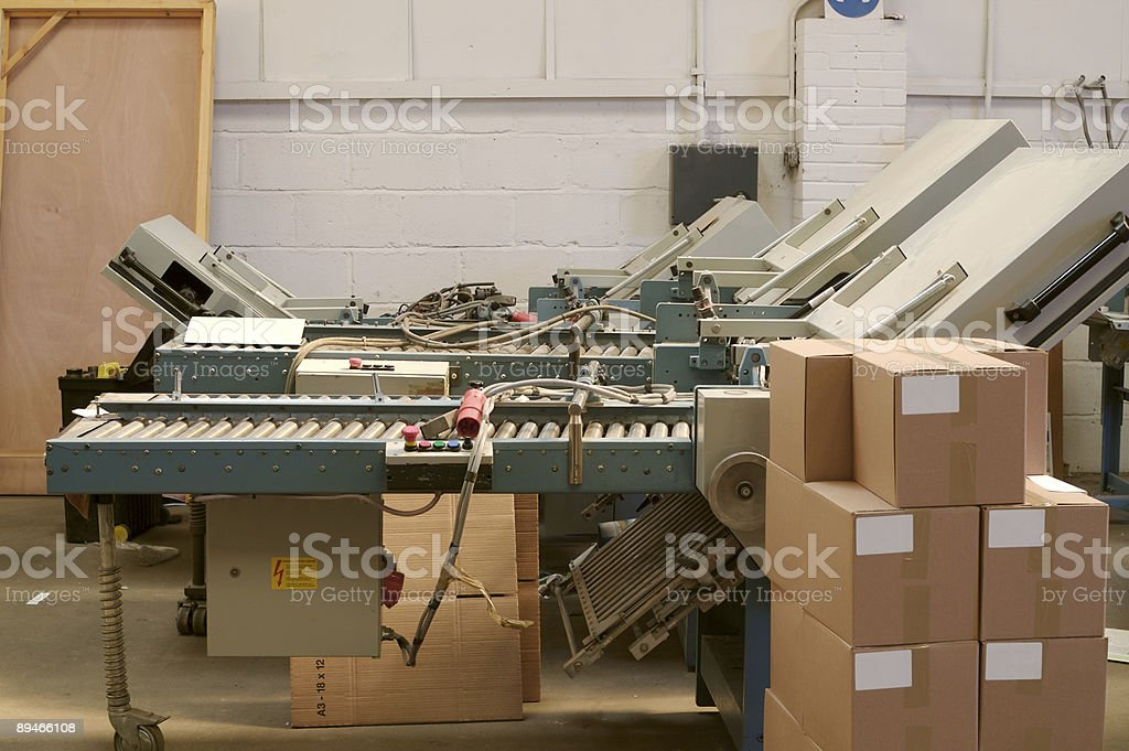 Folding Machines and Boxes... stock photo