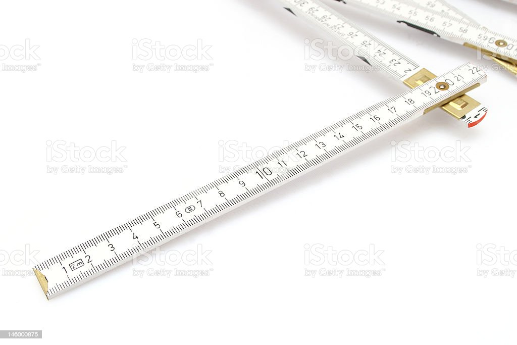 Folding measure stock photo