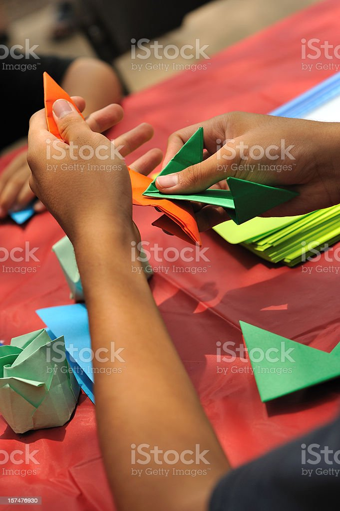 Folding origami royalty-free stock photo