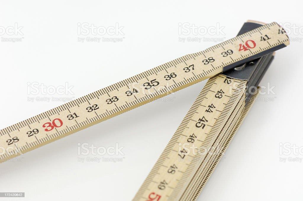 Folding ruler royalty-free stock photo