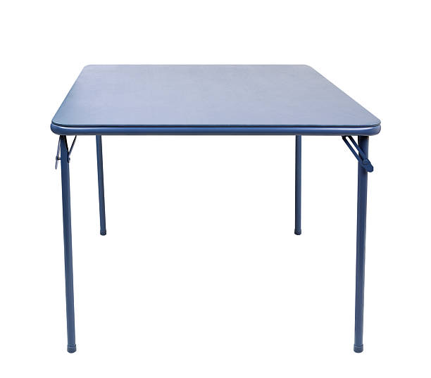 "Folding Table Isolated ""Blue folding card table isolated on white, with clipping path.Please also see my lightbox:"" foldable stock pictures, royalty-free photos & images"
