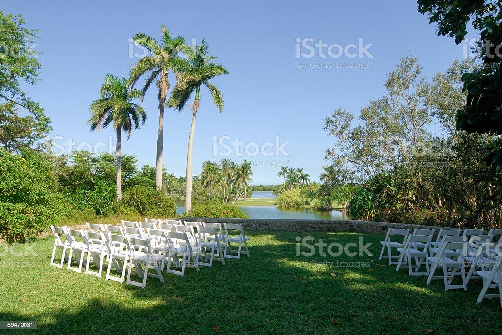 folding wedding chairs royalty-free stock photo