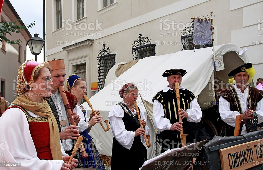 Folk band royalty-free stock photo