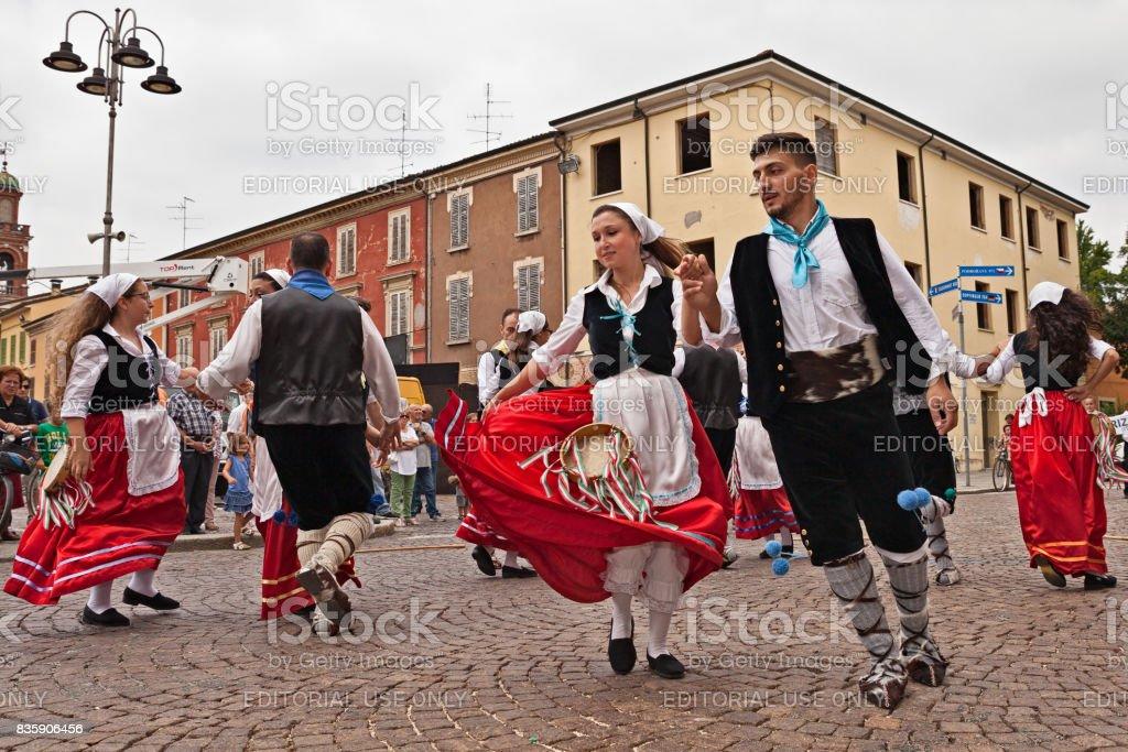 folk dance ensemble from Calabria, Italy stock photo
